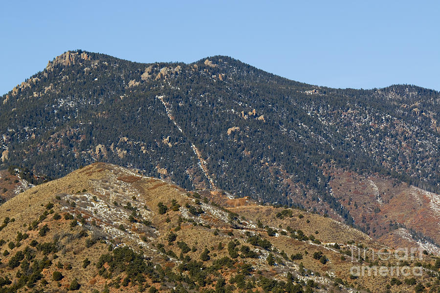Manitou Incline From A Distance Photograph