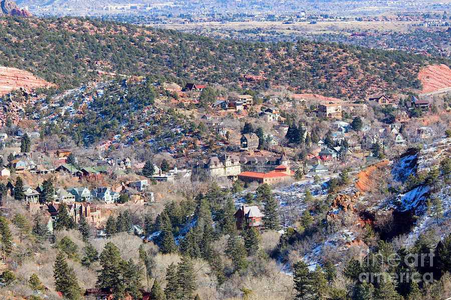 Manitou Springs In Wintertime Photograph