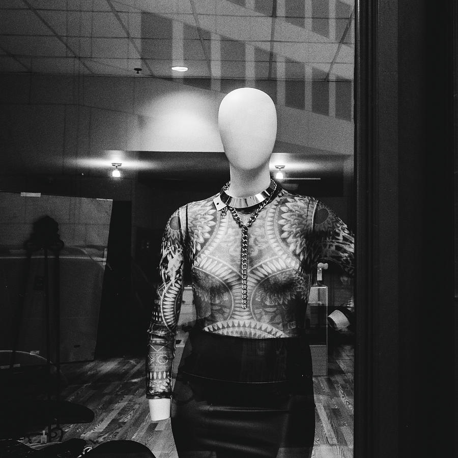 Black And White Photograph - Mannequin In Window by Dylan Murphy