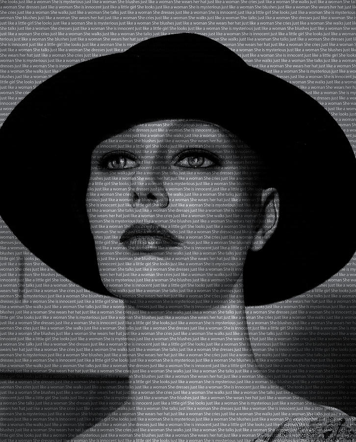 Lady Photograph - Mannequin With Text by Adriana Zoon