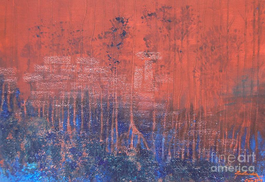 Abstract Painting - Mans Work by Padmakar Kappagantula