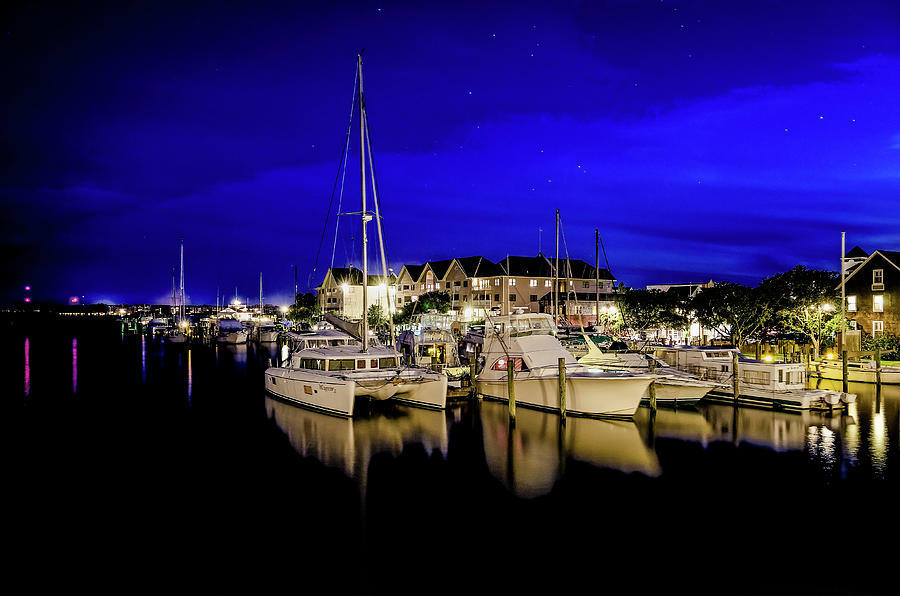 Manteo Waterfront Marina II Hdr Photograph