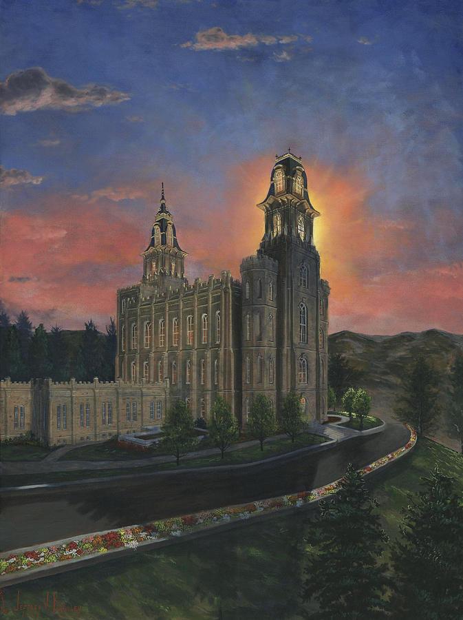 Lds Painting - Manti Sunrise by Jeff Brimley