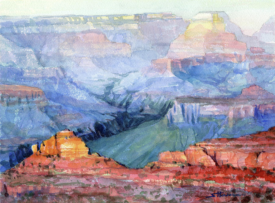 Grand Canyon Painting - Many Hues by Steve Henderson