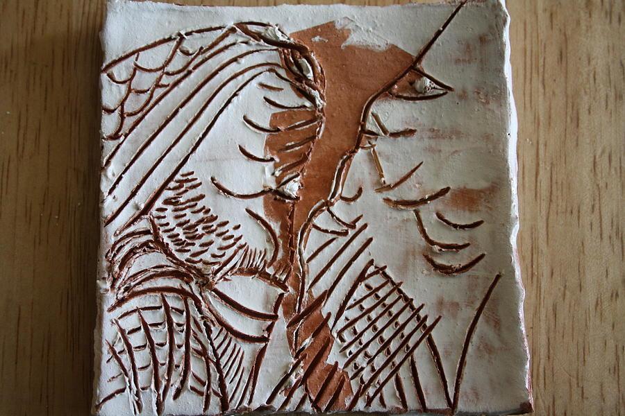 Jesus Ceramic Art - Many Minds - Tile by Gloria Ssali