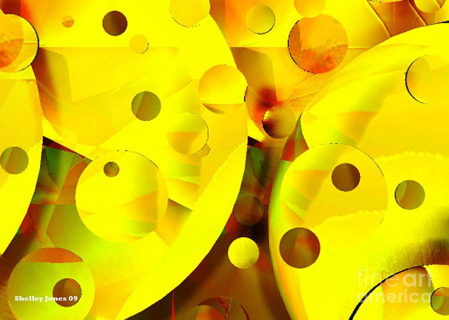 Suns Digital Art - Many Suns by Shelley Jones