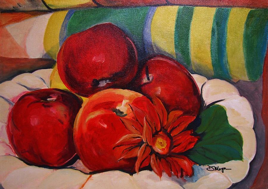 Manzanas Painting - Manzanas by Diana Moya