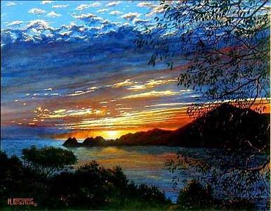Manzanillo Sunset Painting by Al Feldstein