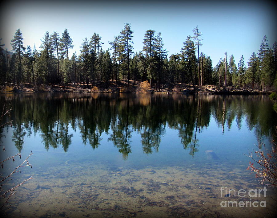Lake Photograph - Manzanita Lake at Lassen Volcanic National Park by Joy Patzner