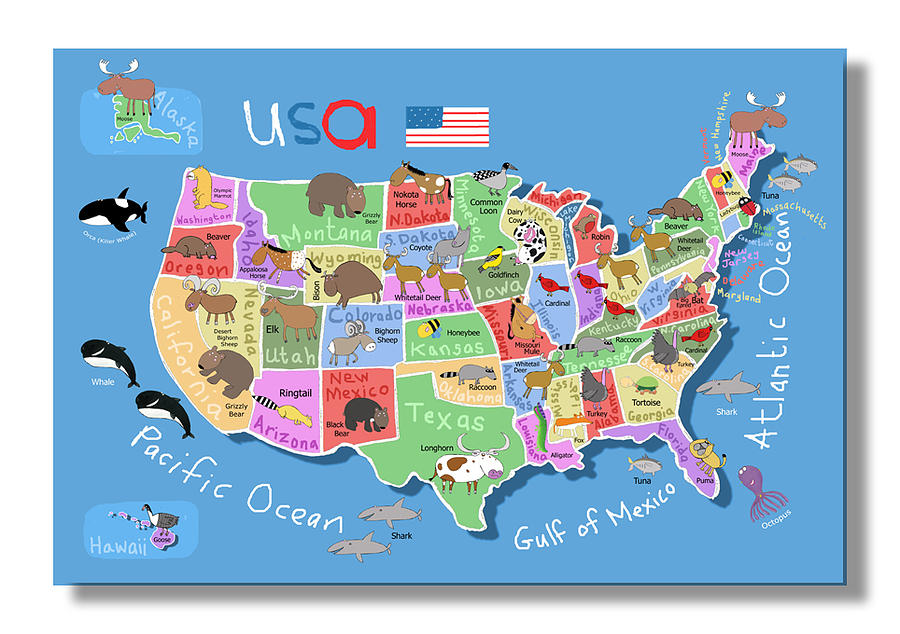 Map Of America Digital Art by Carla Daly Map Fo America on america acronym, america vector, america water bottle, america national anthem, america globe, america weather, america shopping, america people, america continent, america attractions, america area, america logo, america activities, america text, america art, america outline, america city, america atlas, america hemisphere, america google earth,