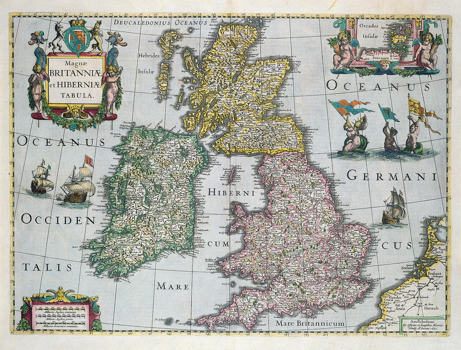 Map Drawing - Map Of Britain by English school
