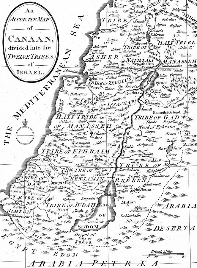 Map of canaan showing the twelve tribes drawing by english school canaan drawing map of canaan showing the twelve tribes by english school sciox Choice Image