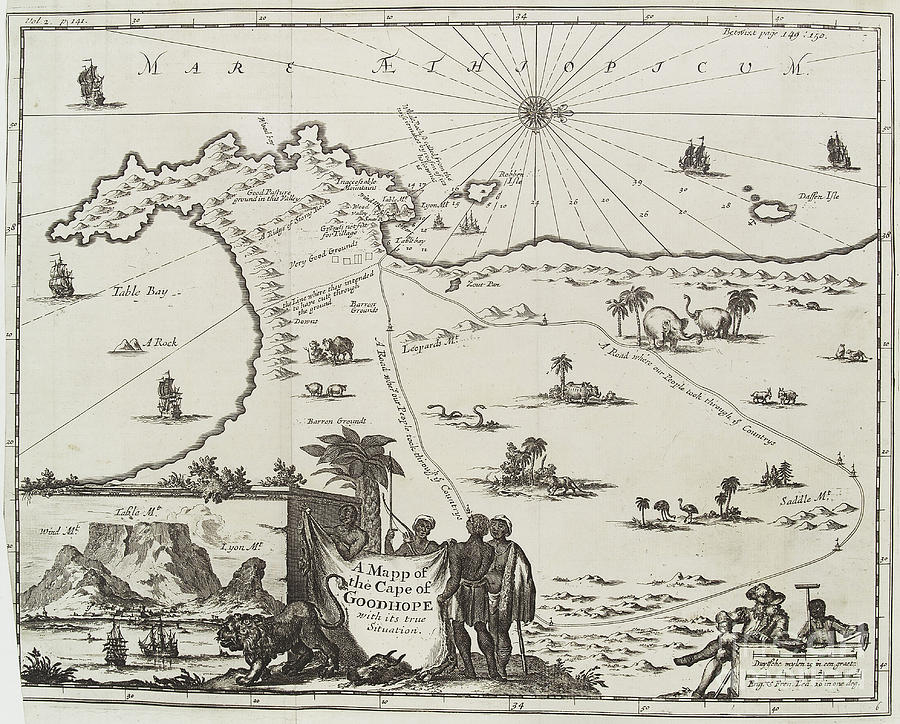 Map Of Cape Of Good Hope, South Africa