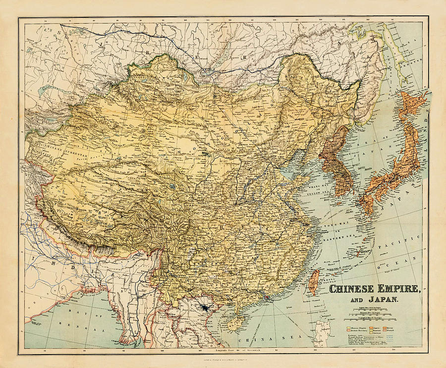 Map 1900.Map Of China 1900 By Andrew Fare