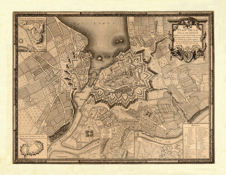 Map of geneva 1773 photograph by andrew fare vintage map photograph map of geneva 1773 by andrew fare freerunsca Image collections