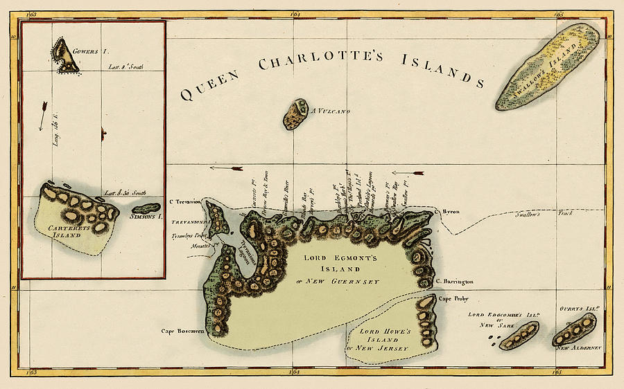 Map Of Queen Charlotte Islands 1776 Photograph by Andrew Fare Queen Charlotte Islands Map on