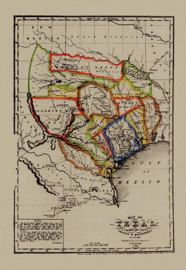 Map Of Texas In 1836.Map Of Texas 1836 By Andrew Fare