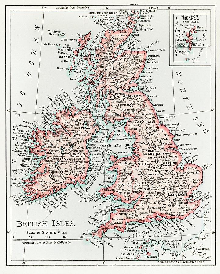 Map Of The British Isles 1900