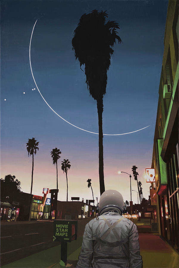 Astronaut Painting - Map Of The Stars by Scott Listfield