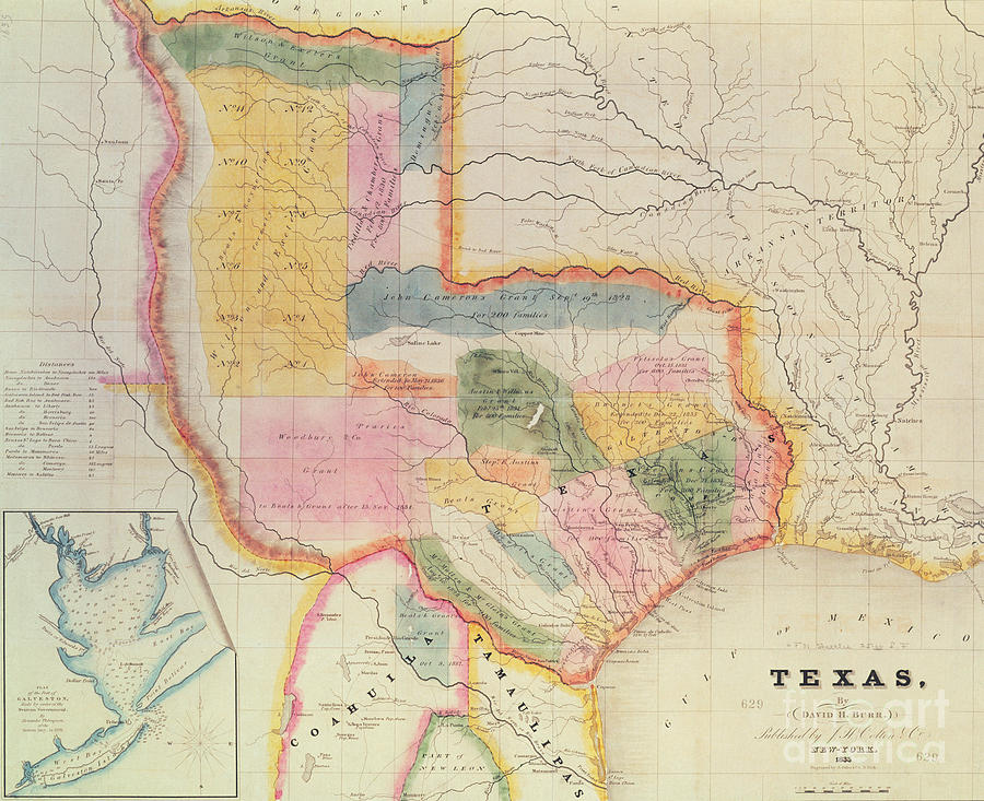 Map Of Texas 1835.Map Of The State Of Texas 1835