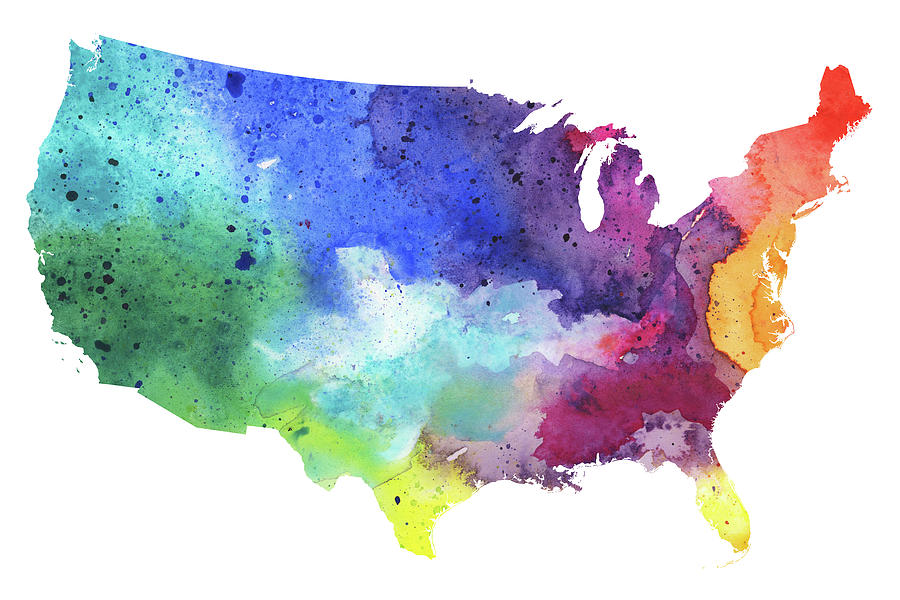 Map Of The United States With Watercolor Texture In Rainbow Colors Map Colors on edge coloring, map assessment, chromatic polynomial, path coloring, map of dalmatian coast croatia, greedy coloring, map of europe, star coloring, fractional coloring, map weather, acyclic coloring, map coloring pages, map lines, perfect graph, map coloring worksheets, map of world countries geography, dual graph, graph coloring, lattice graph, map flower, exact coloring, map labels, map of us lower 48 states, five color theorem, map of malawi and surrounding countries, map of the world international, pigeonhole principle, map layers, hadwiger conjecture, map creator, harmonious coloring, map of northeastern united states, complete coloring, map words, map of mexico states and capitals, strong coloring, map details, map of greenland and north america,