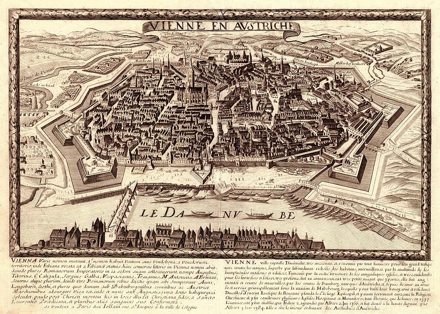 Map Of Vienna 1685 Photograph