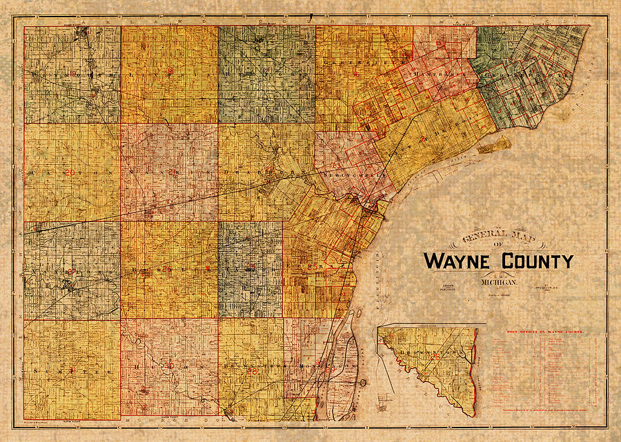 Map Of Wayne County Michigan Detroit Area Vintage Circa 1893 On Worn Detroit Area Map on ann arbor map, detroit demolition map, detroit subdivision map, michigan map, detroit real estate map, detroit history map, city of detroit lakes mn map, detroit belle isle island, west village detroit map, detroit suburbs map, detroit street map printable, detroit zip code map, detroit community map, detroit border map, detroit neighborhood map, detroit sewer system map, detroit on a map, detroit region map, detroit mi map, detroit building map,