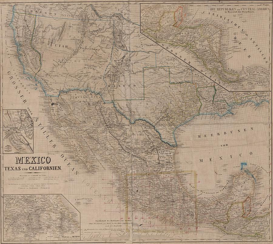 Old Map Of Texas.Map Usa Vintage Old Map Art Wall State Mexico Texas California By Art Makes Happy