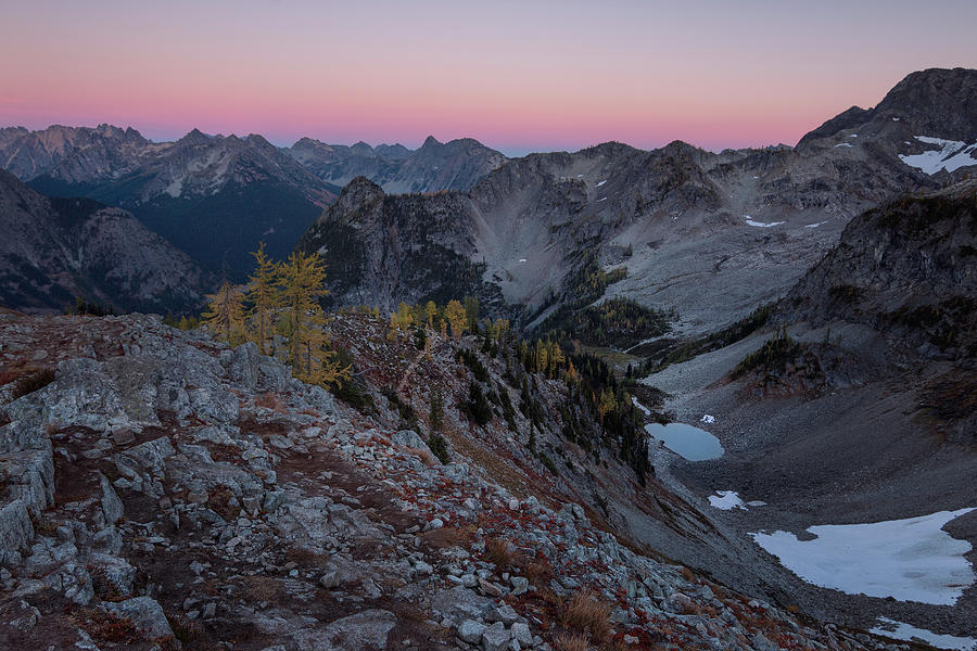 Washington Photograph - Maple Pass Sunset by Ryan McGinnis
