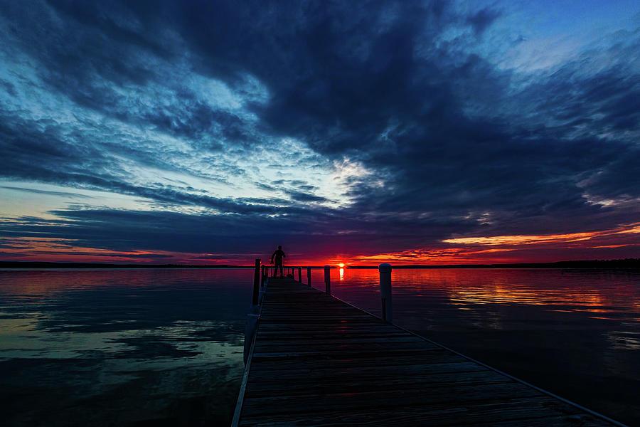 Higgins Lake Photograph - Maplehurst Dock by Joe Holley