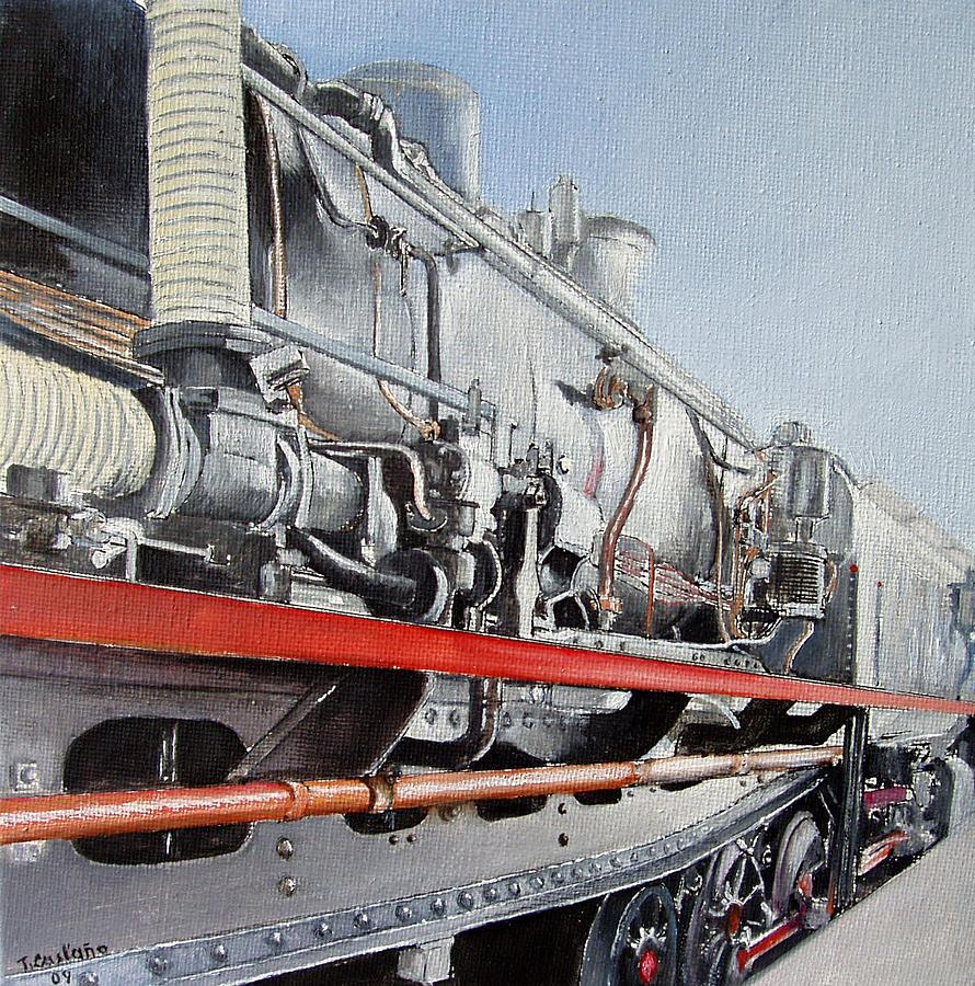 Train Painting - Maquina de Vapor by Tomas Castano