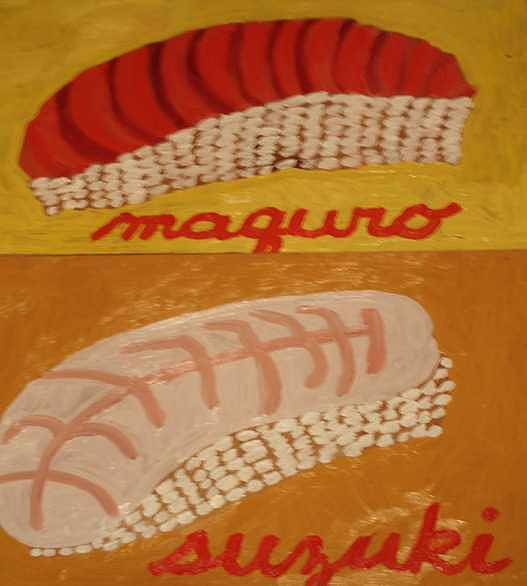 Colorful Painting - Maquro And Suzuki  Diptic by Patrice Tullai