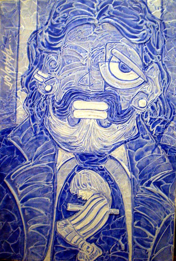 Maradonnas Messi-merizing Jewel Painting by Yolanda De Sousa