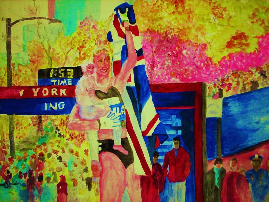 Sport Painting - Marathon Mom by Jack Donahue