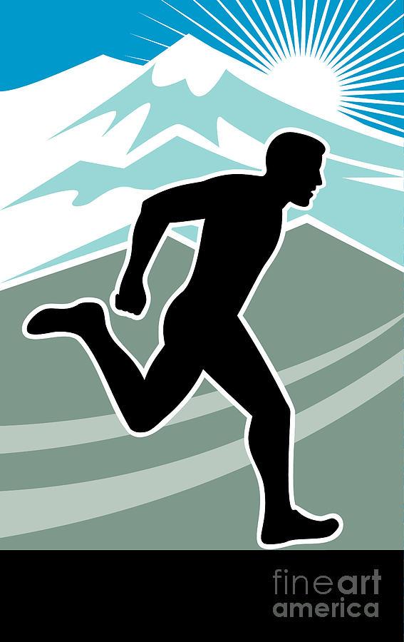 Marathon Digital Art - Marathon Runner by Aloysius Patrimonio