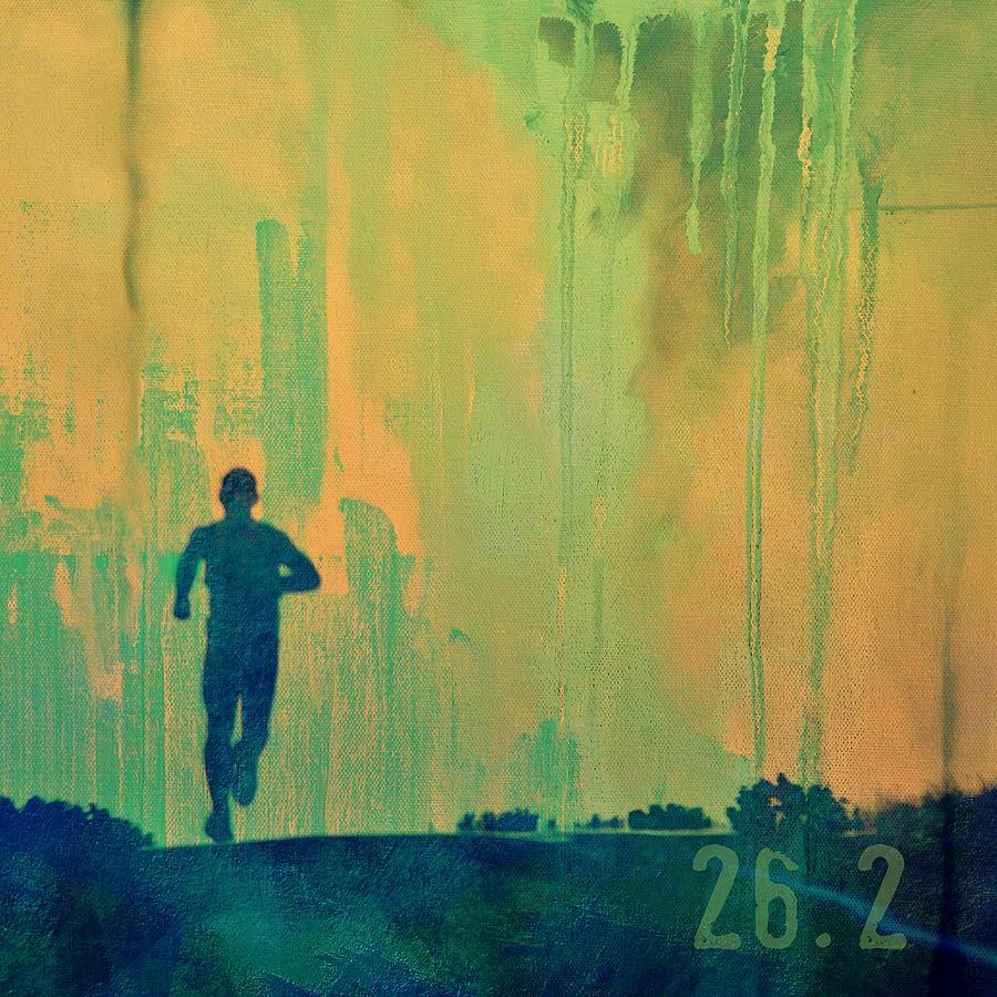 Brandi Fitzgerald Digital Art - Marathon Runner by Brandi Fitzgerald