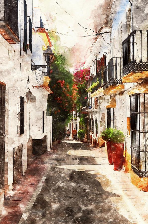Marbella Painting - Marbella, Andalusia - 01 by Andrea Mazzocchetti