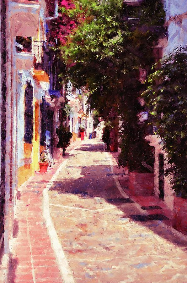 Marbella Painting - Marbella, Andalusia - 04 by Andrea Mazzocchetti
