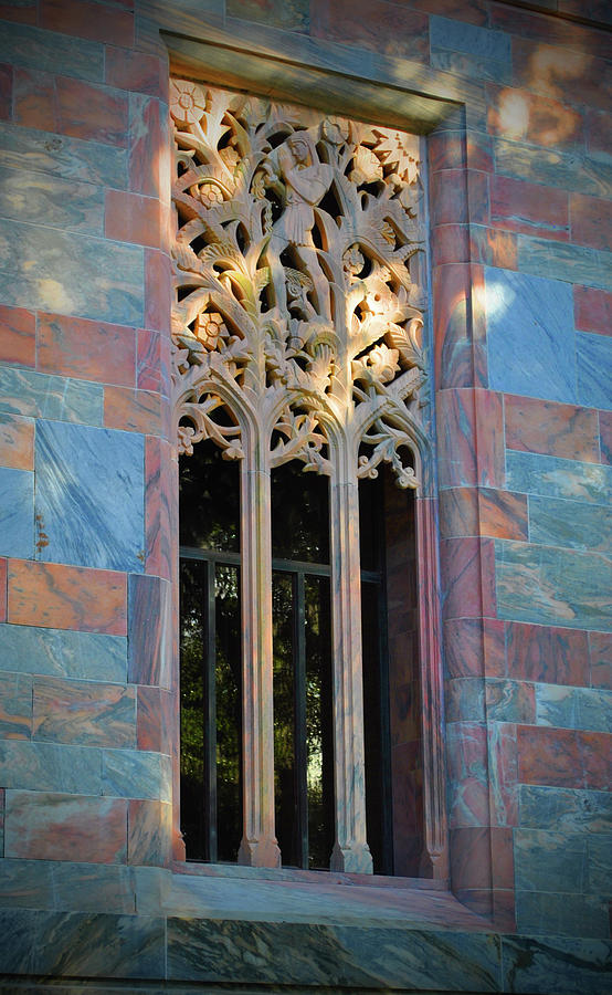 Window Photograph - Marble Deco Window by Jost Houk