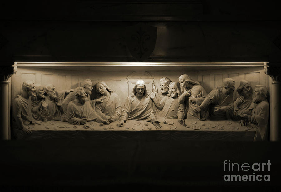 Christ Photograph - Marble Last Supper by Patti Whitten