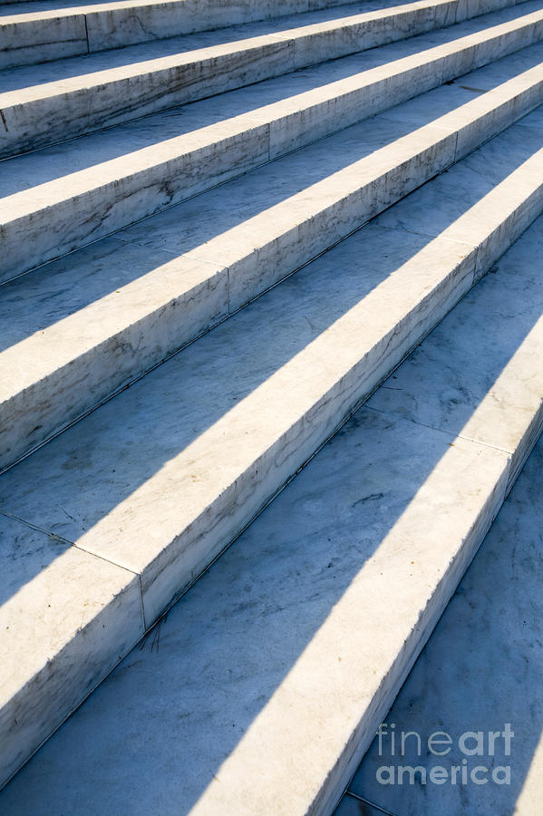 Architectural Detail Photograph - Marble Steps, Jefferson Memorial, Washington Dc, Usa, North America by Paul Edmondson