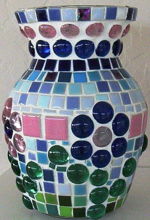 Glass Glass Art - Marble Vase by Jamie Frier