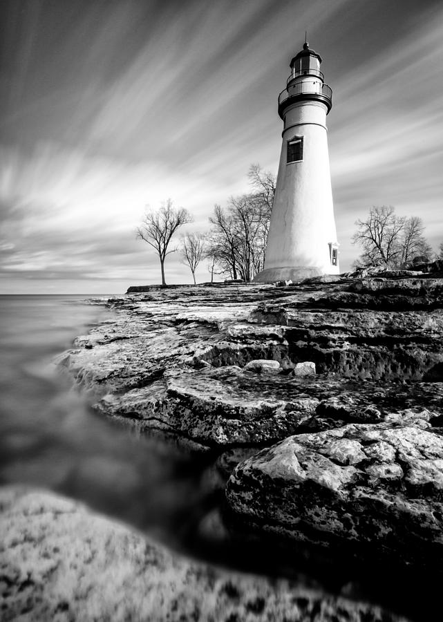 Marblehead Lighthouse Black And White Photograph by Matt ...