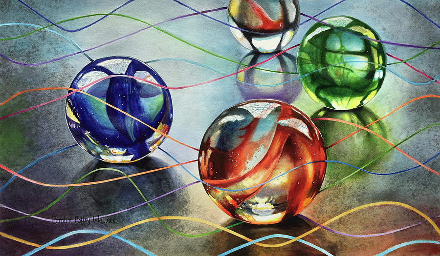 Marbles 4 by Carolyn Coffey Wallace