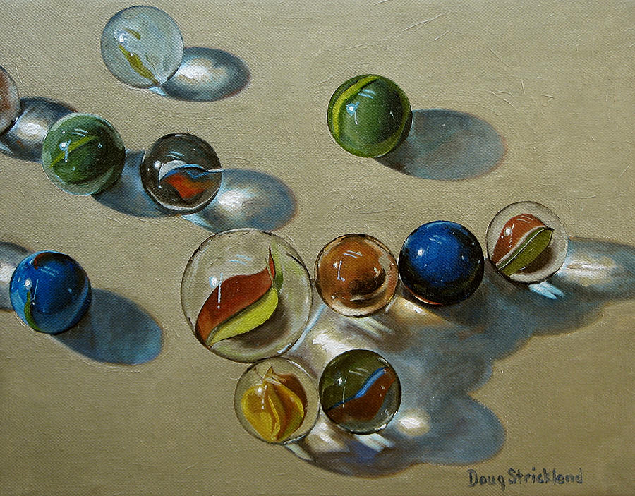 Marbles Painting - Marbles by Doug Strickland