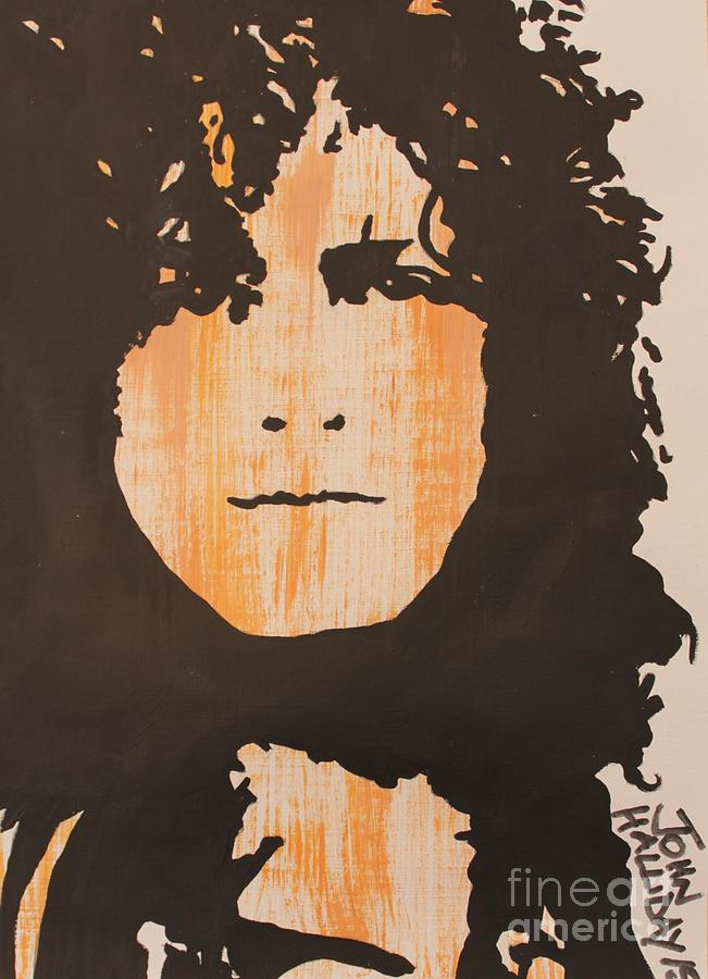Singer Painting - Marc Bolan T.rex by John Halliday