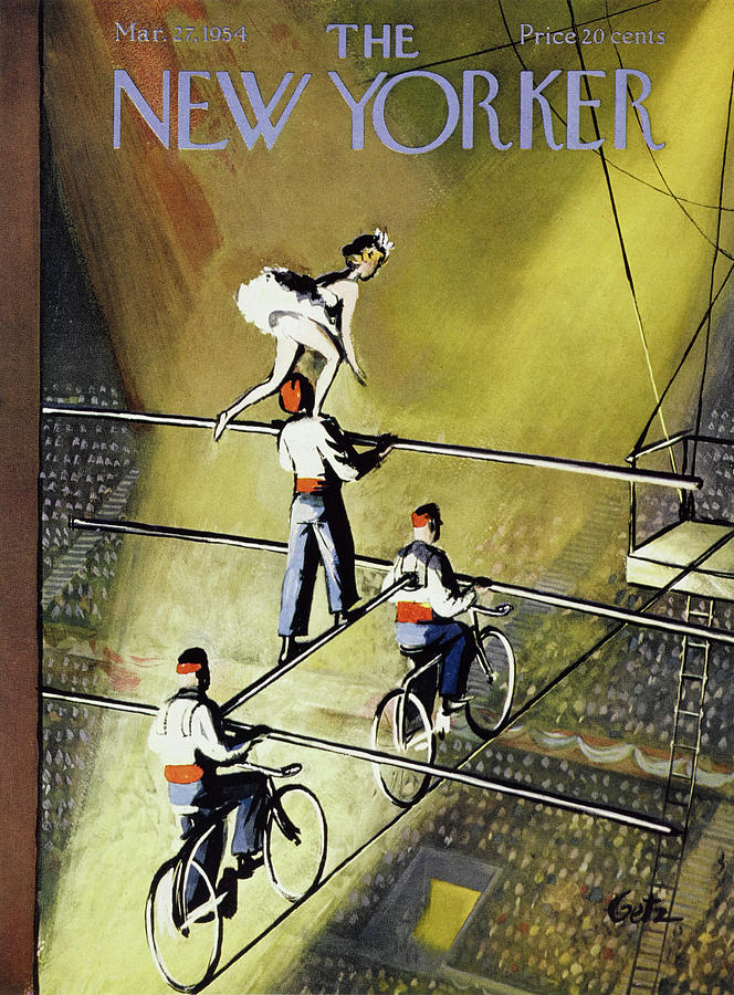 New Yorker March 27 1954 Painting by Arthur Getz