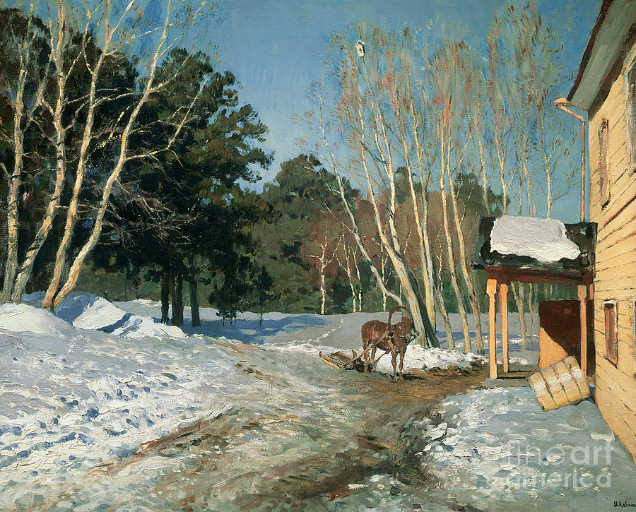 March Painting - March by Isaak Ilyich Levitan