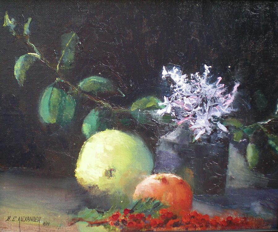 Eucalyptus Leaves Painting - March Jasmine by Bryan Alexander