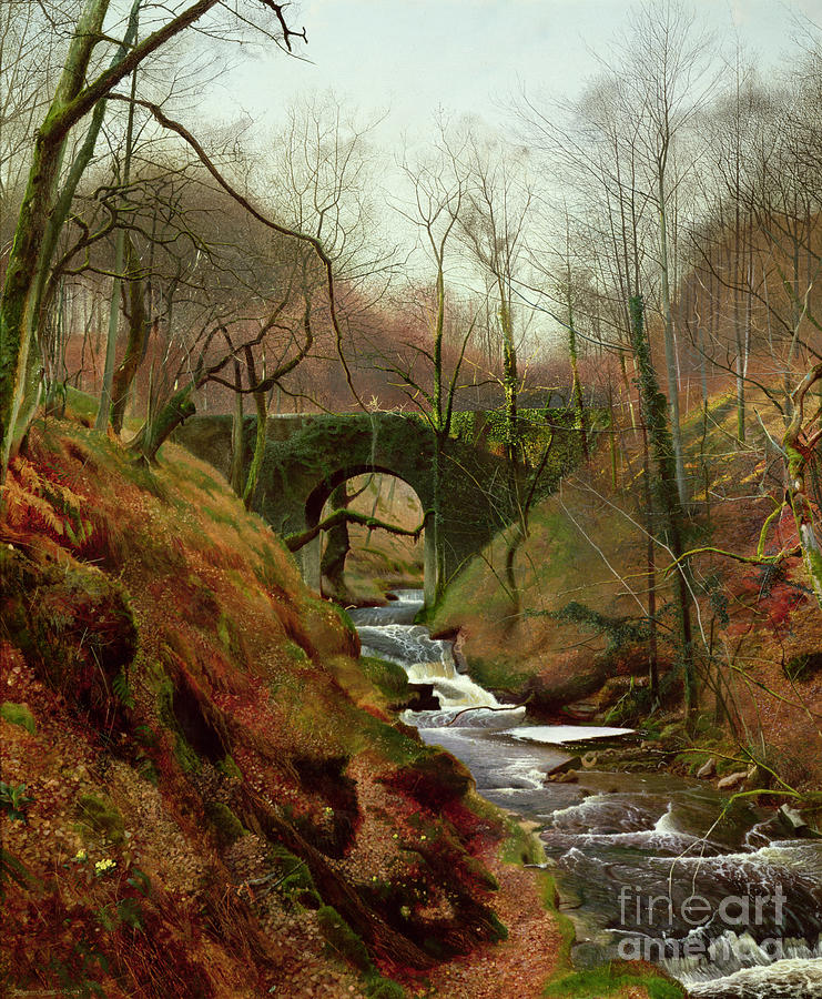 March Painting - March Morning by John Atkinson Grimshaw